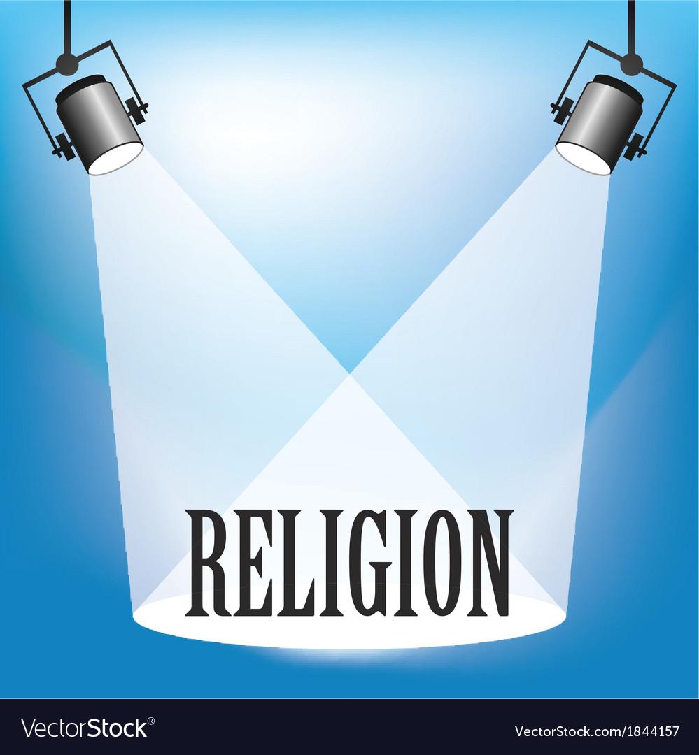 Spotlight religion vector