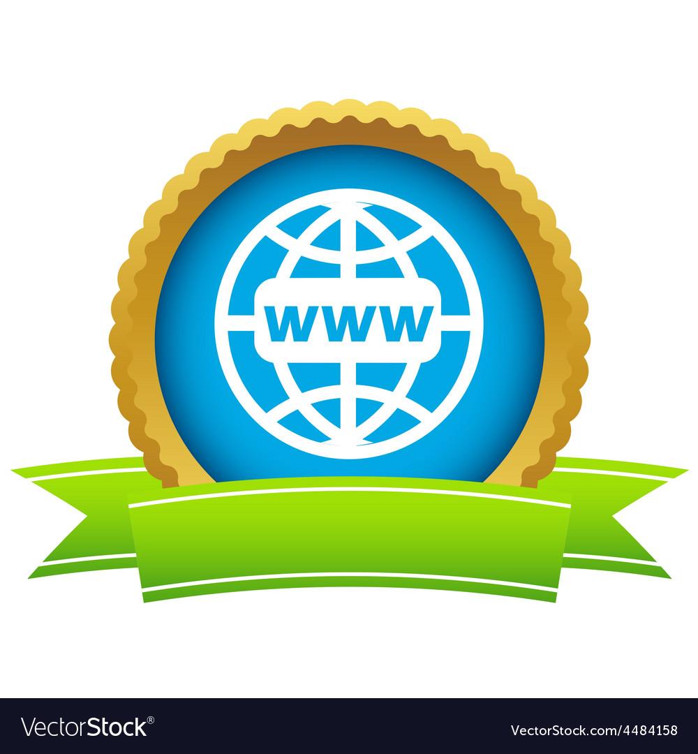 Gold www world logo vector