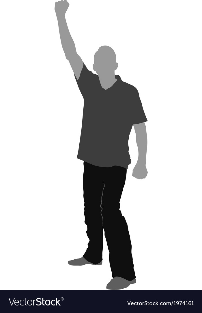 Fist raised vector