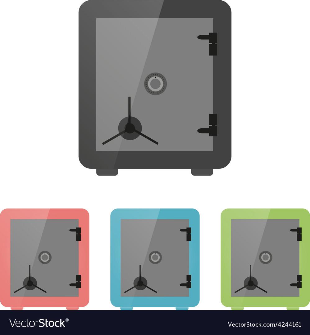 Icon strongbox vector