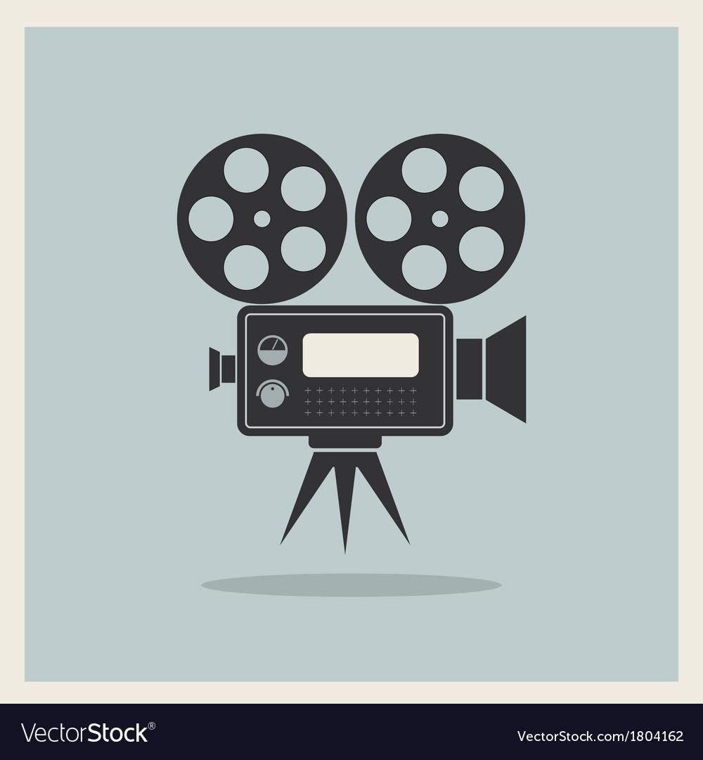 Video movie camera on retro background vector