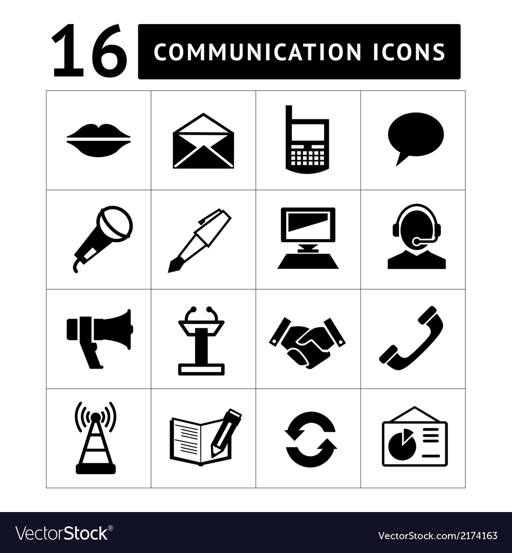Set of communication icons vector