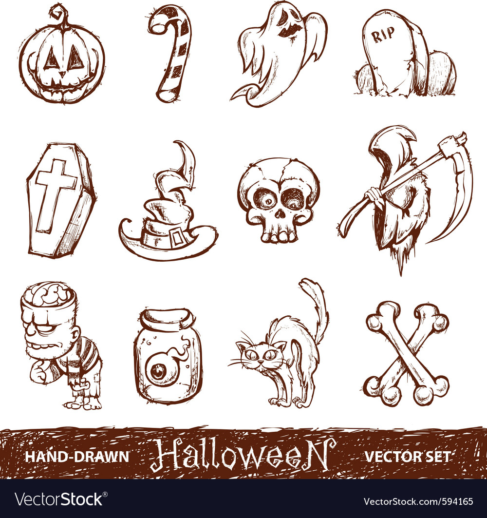 Hand drawn halloween vector