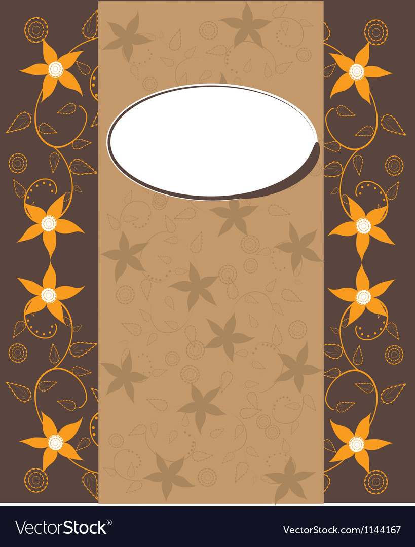 Background with oval copyspace vector