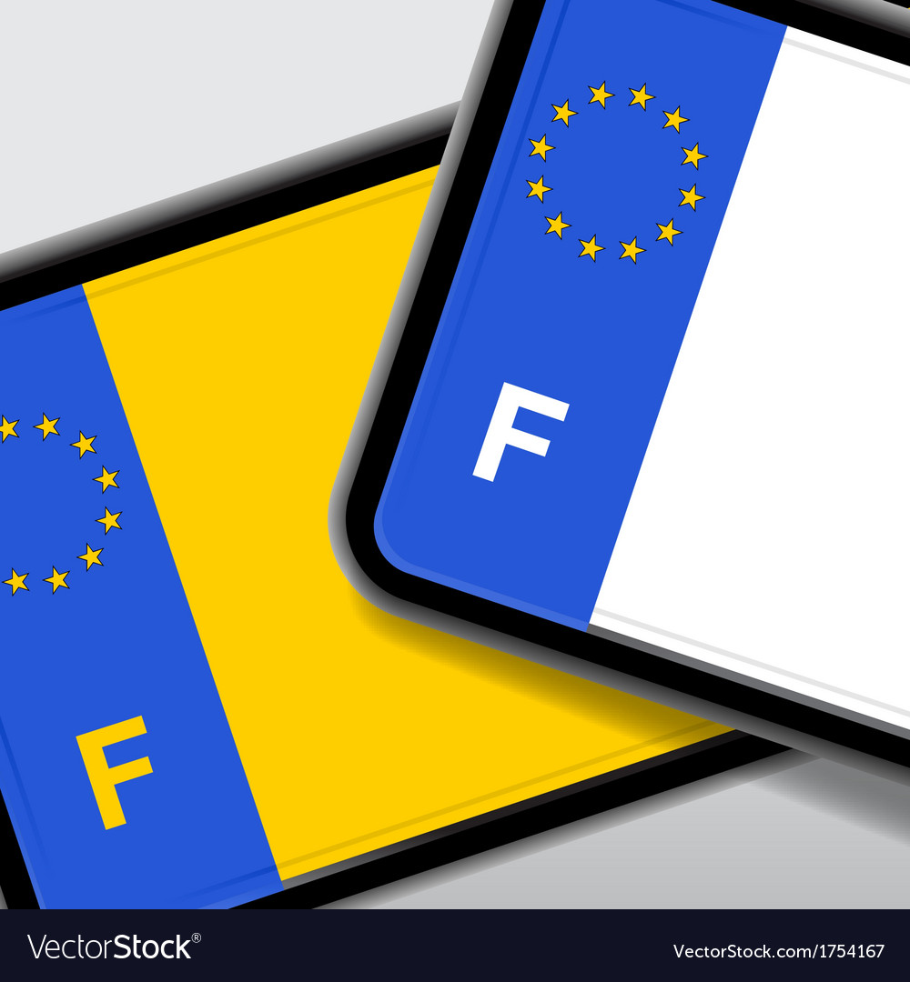 France number plate vector
