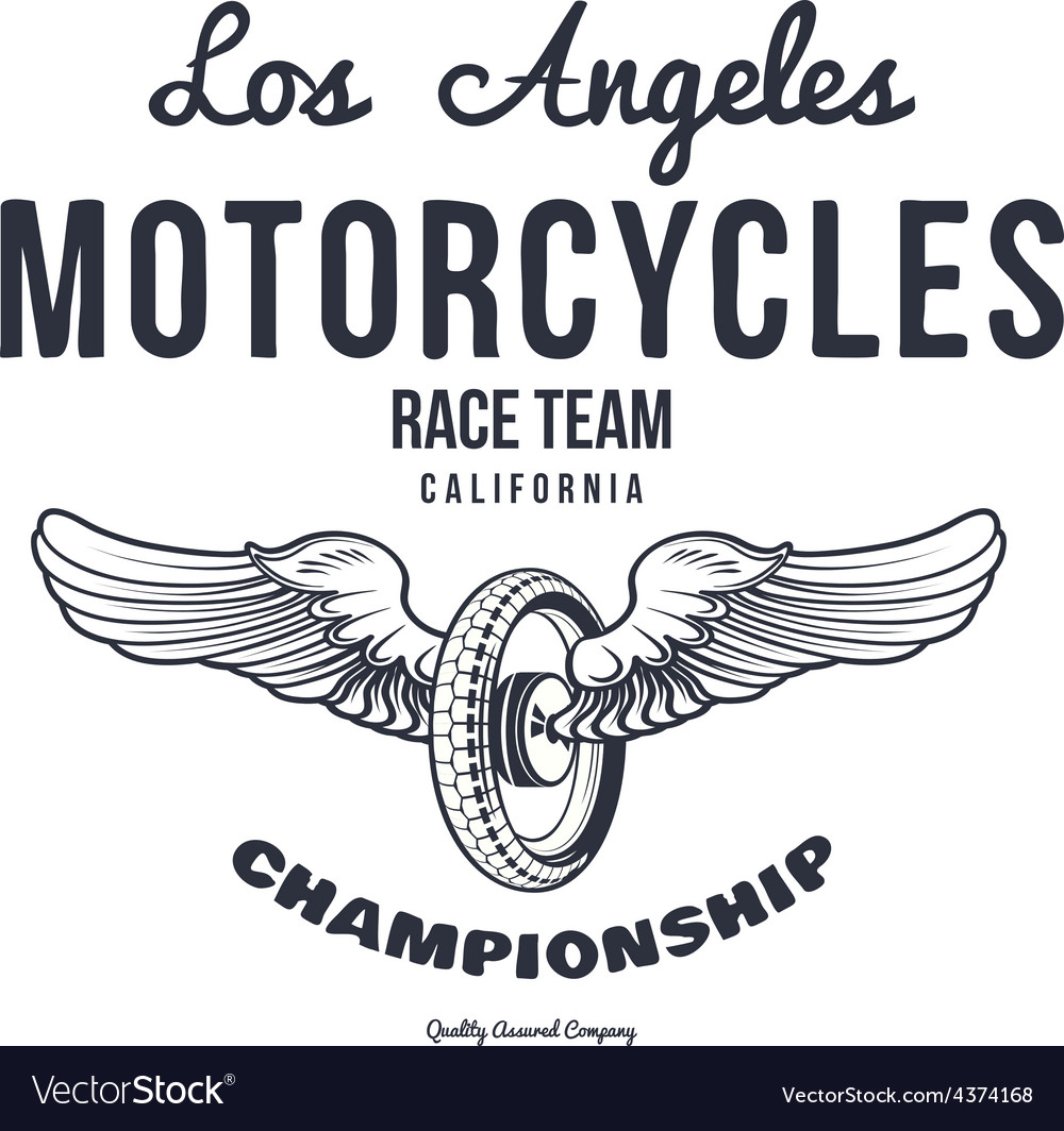 Motorcycle typography t-shirt graphics vector