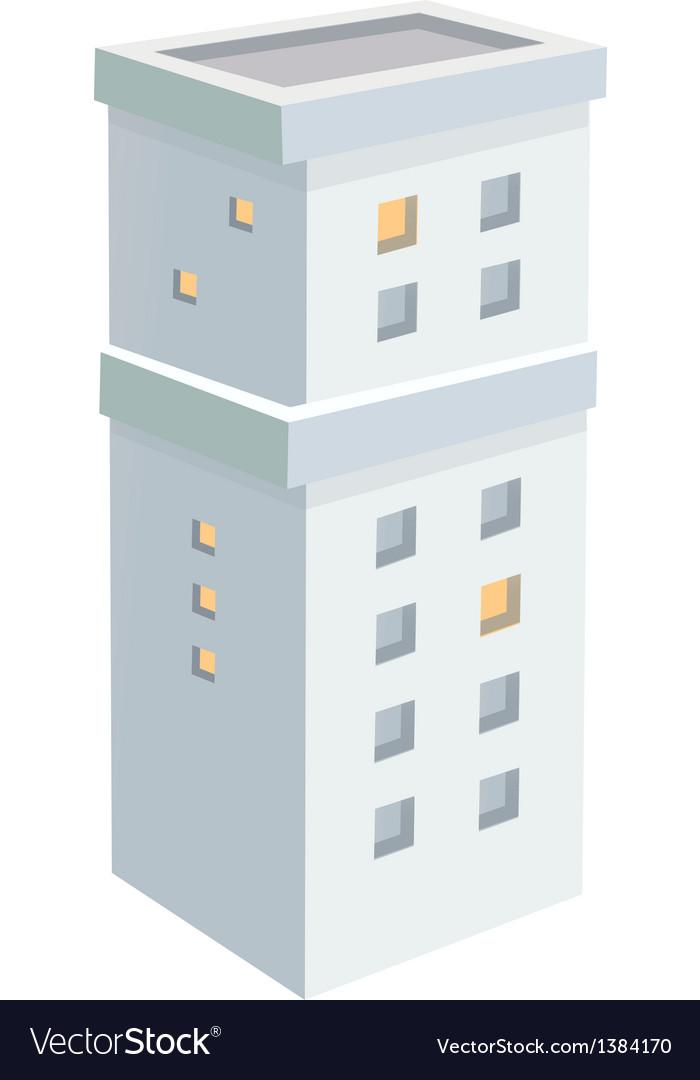 Icon building vector