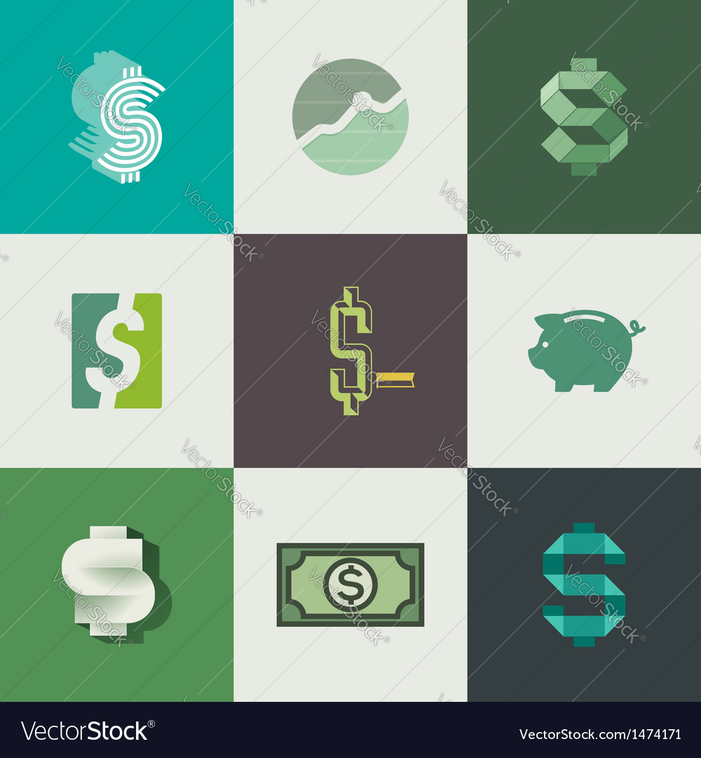 Dollar signs design vector