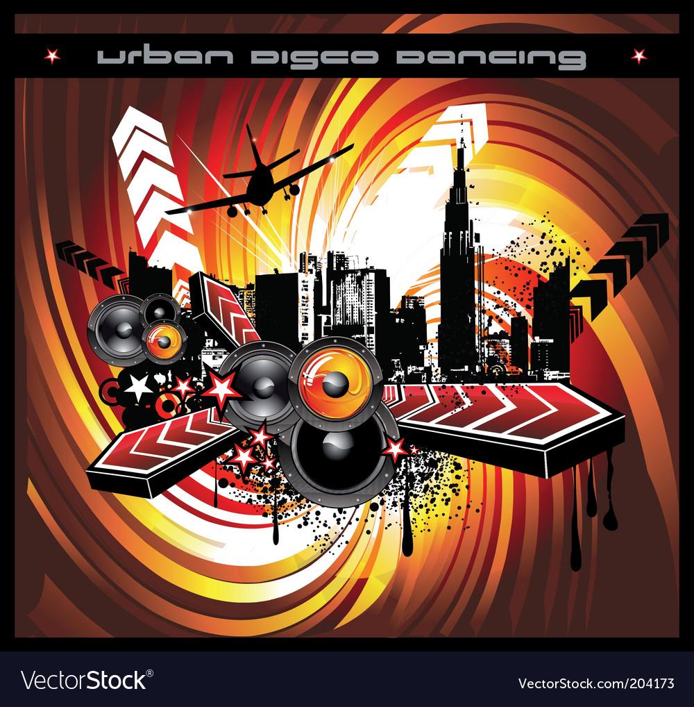Disco flyer vector