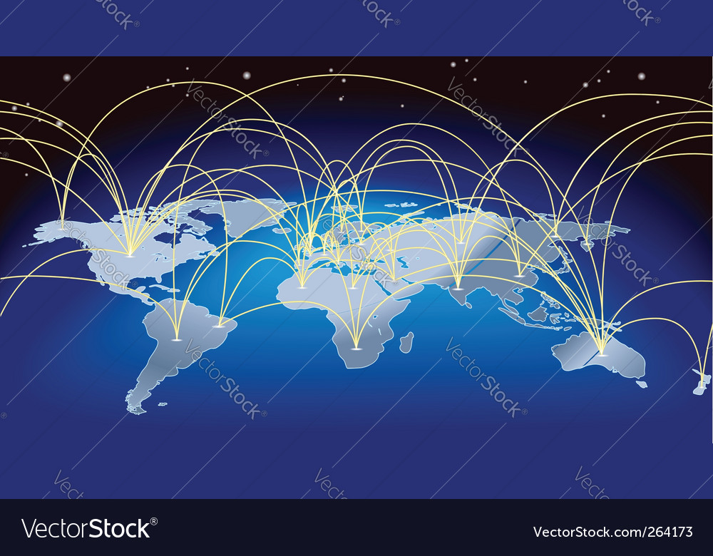 World trade map vector