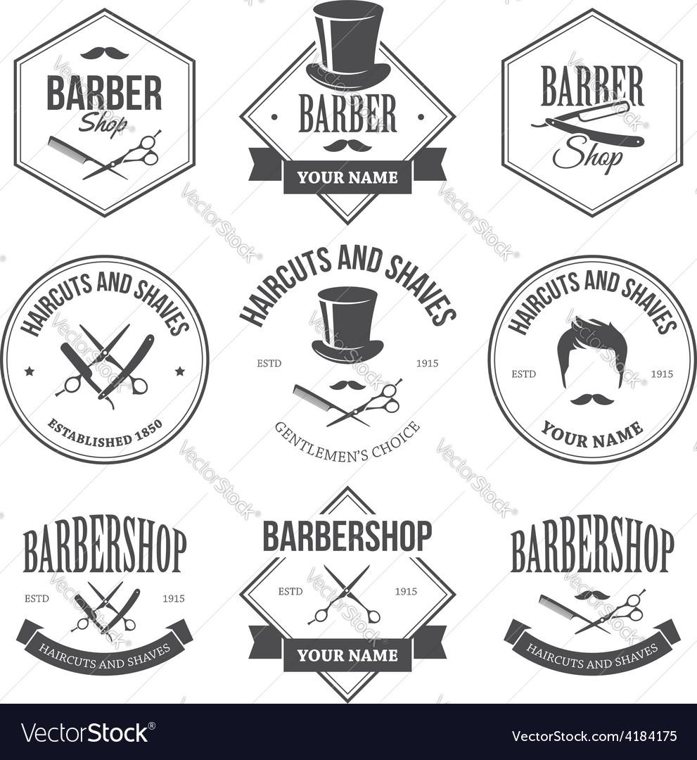 Barber shop labels vector