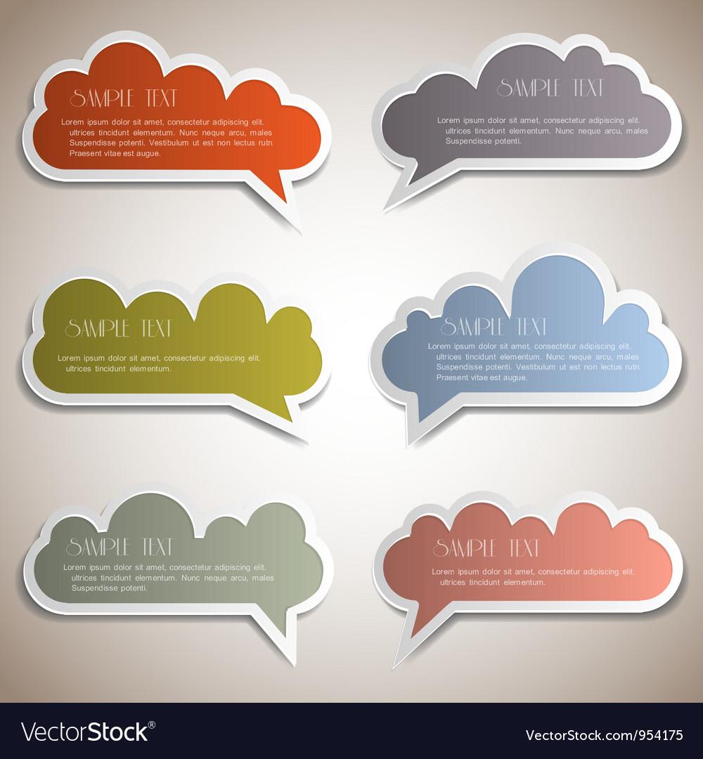 Paper speech bubbles vector