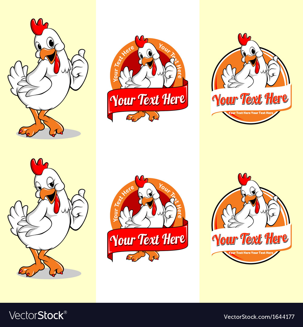 Chicken mascot vector