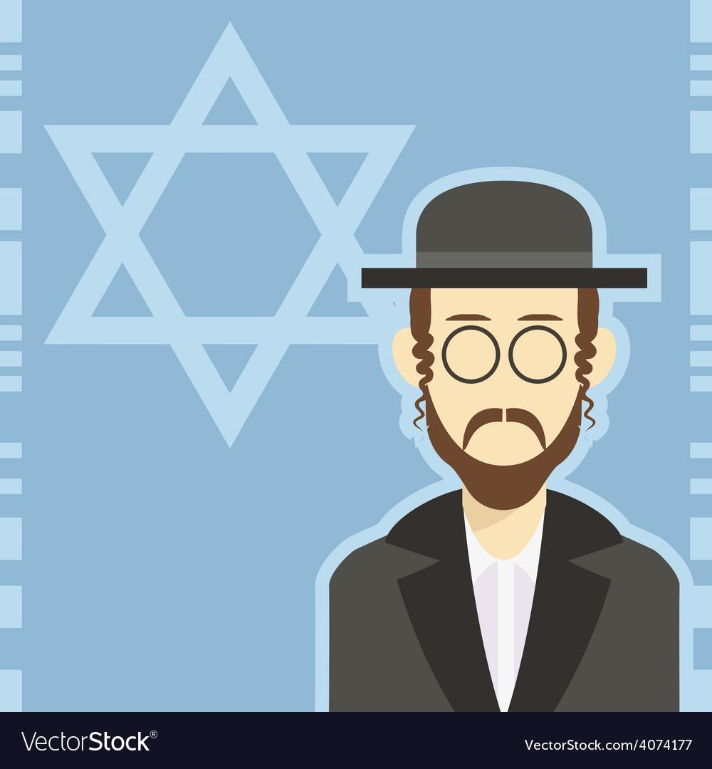 Jew icon 1 vector