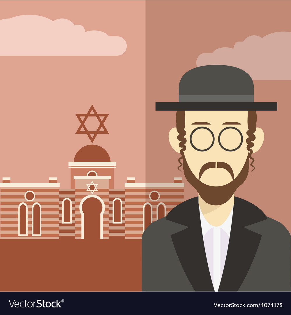 Jew icon 2 vector