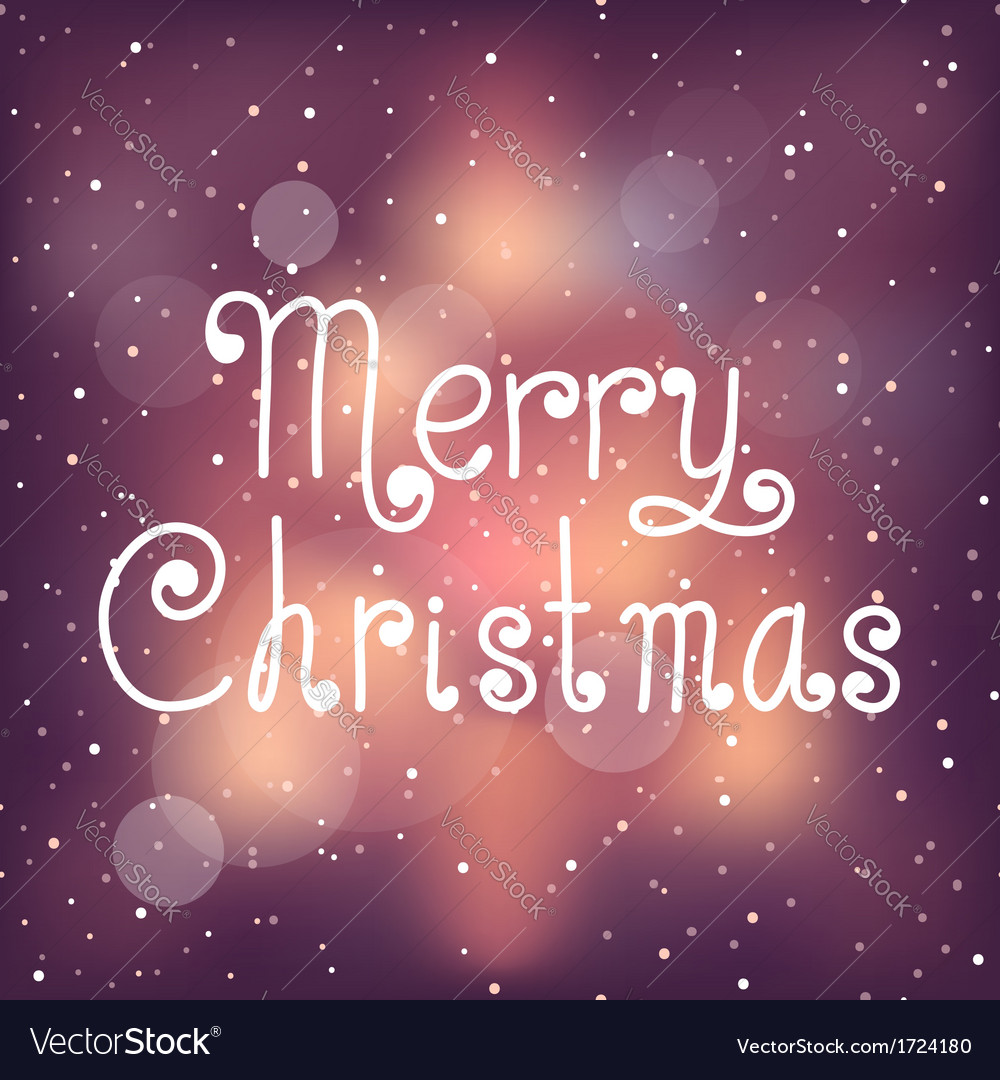 Bright christmas card with snow vector