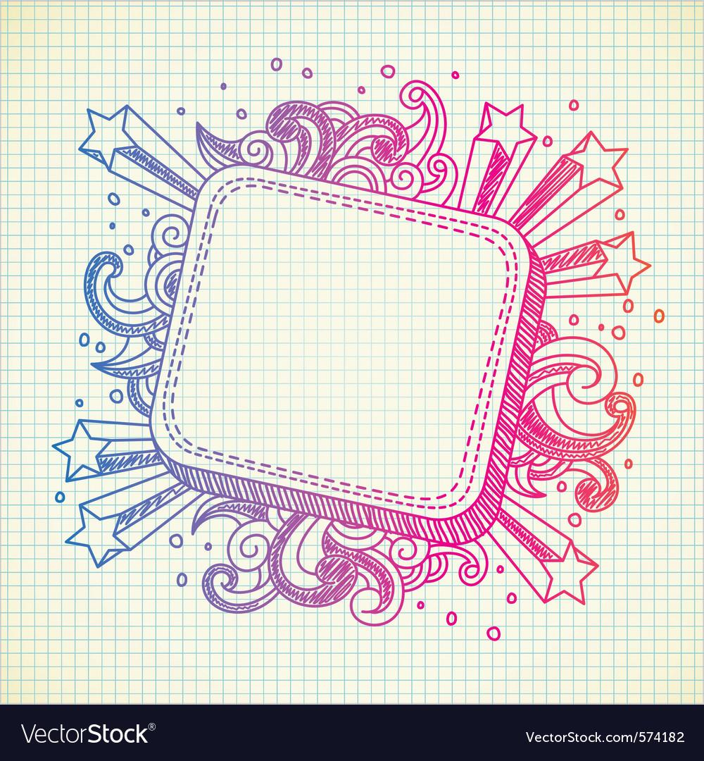 Frame doodle vector