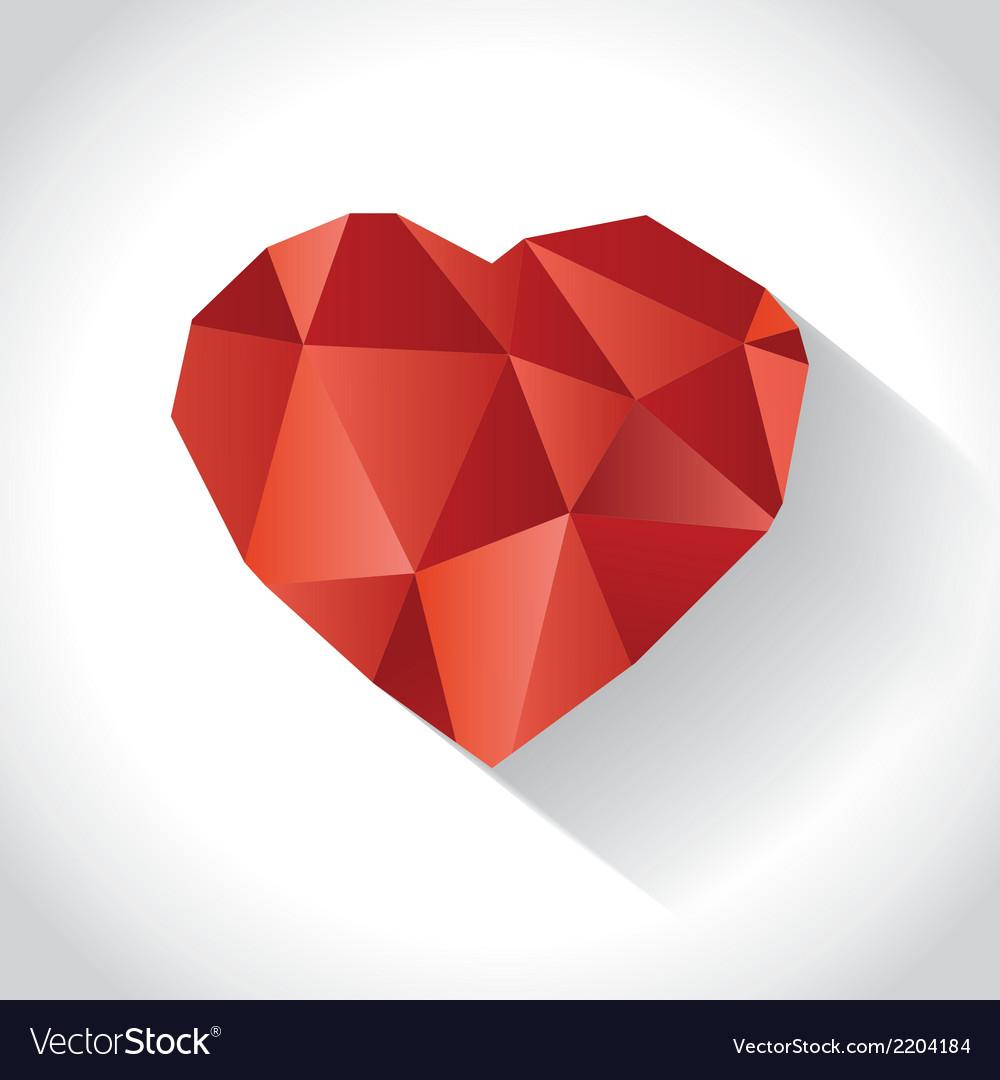 Diamond heart vector