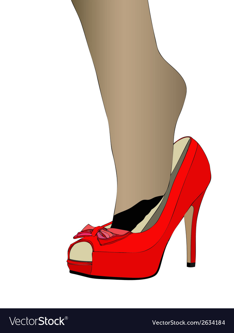 Sensual fetish the passion for womens shoes vector