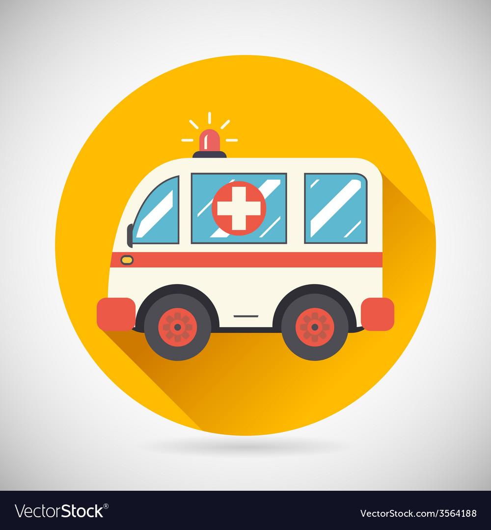 Ambulance car hastens aid rescue icon heal vector