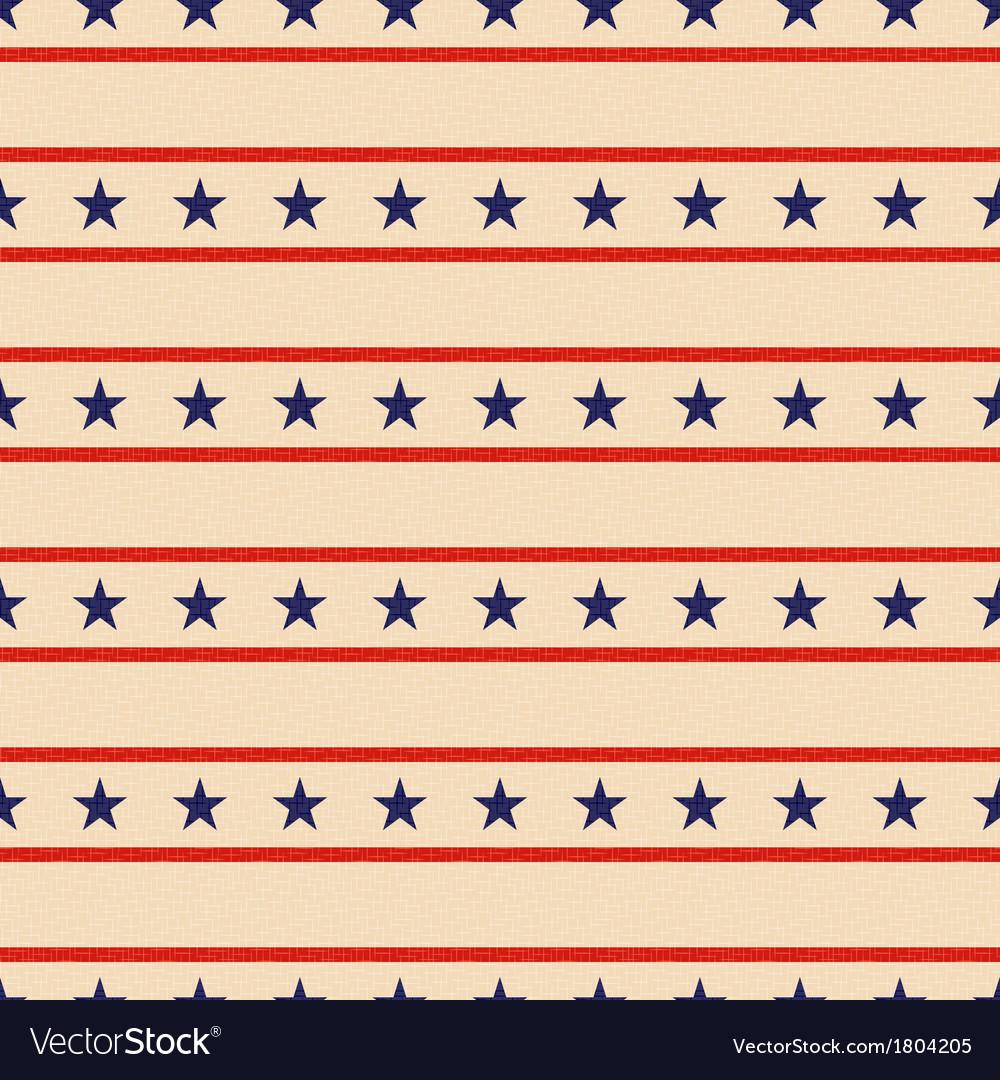Seamless patriotic stars background vector