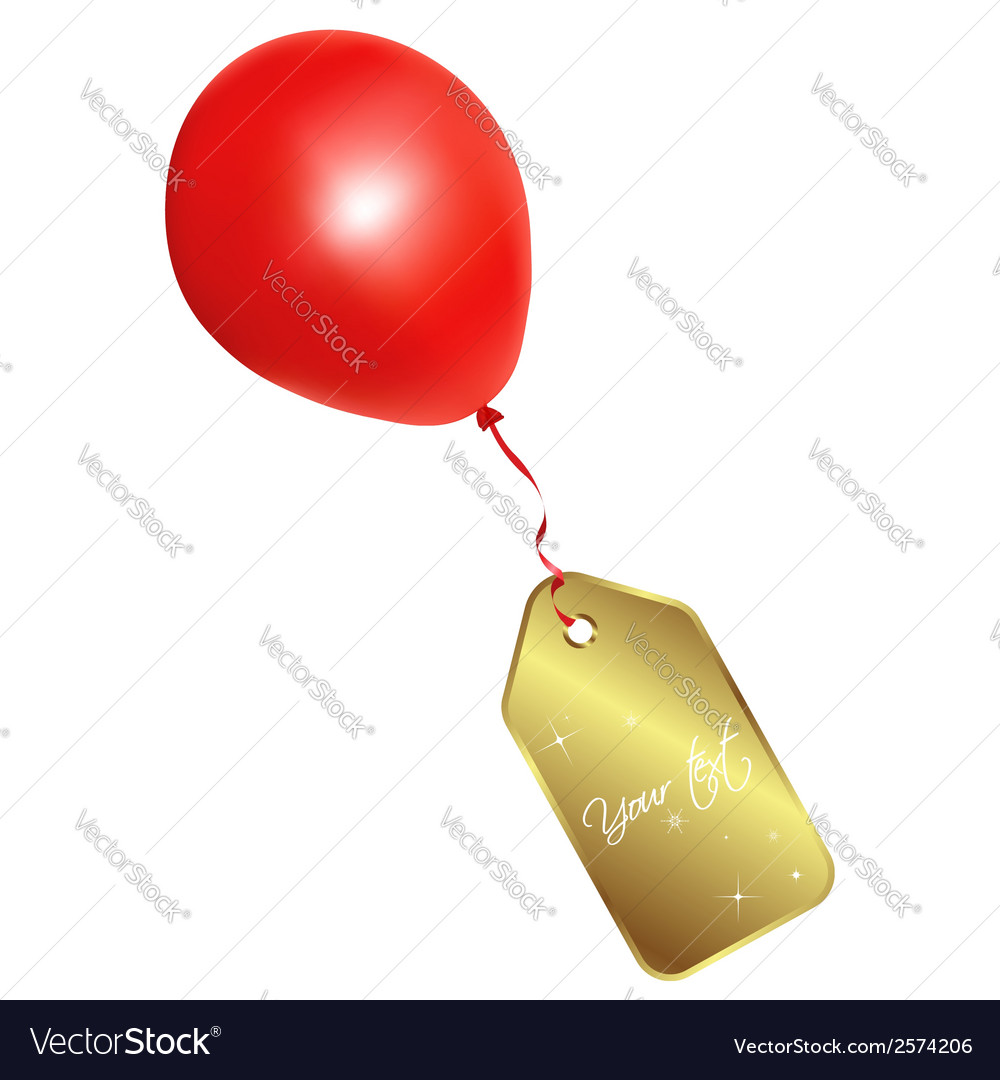 Label and balloon vector