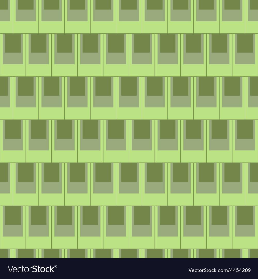 Seamless rectangular tile pattern-green vector