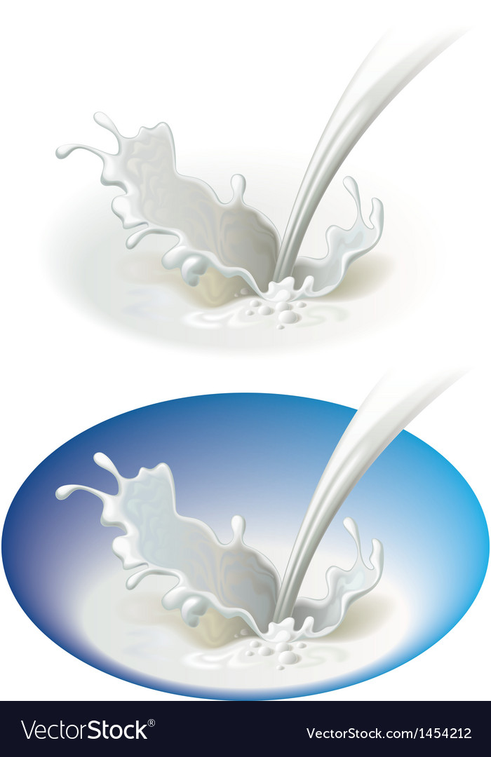 Milky splash vector