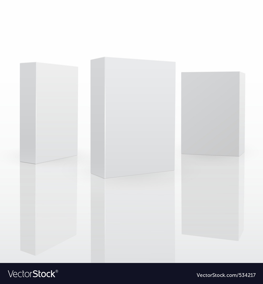 Blank software box vector