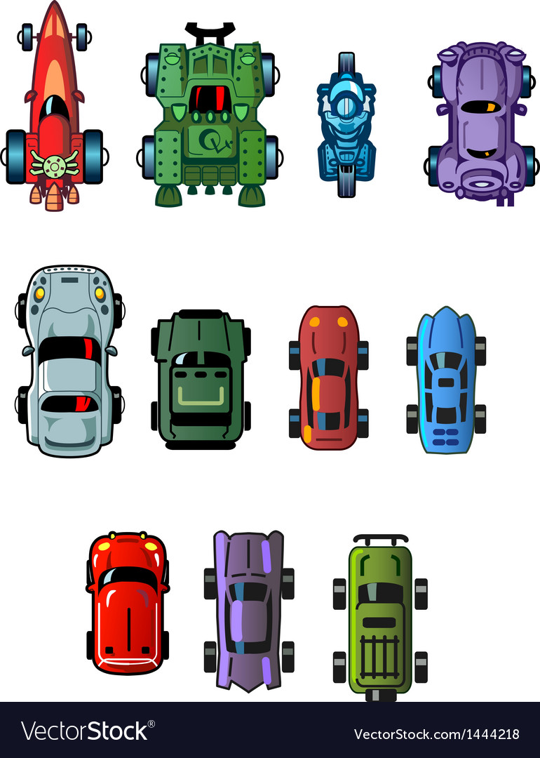Cars for computer games vector