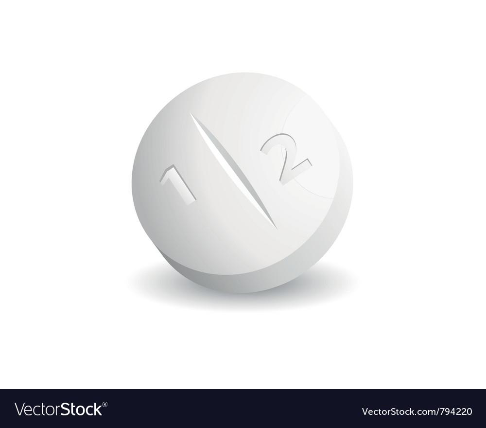 White tablet vector