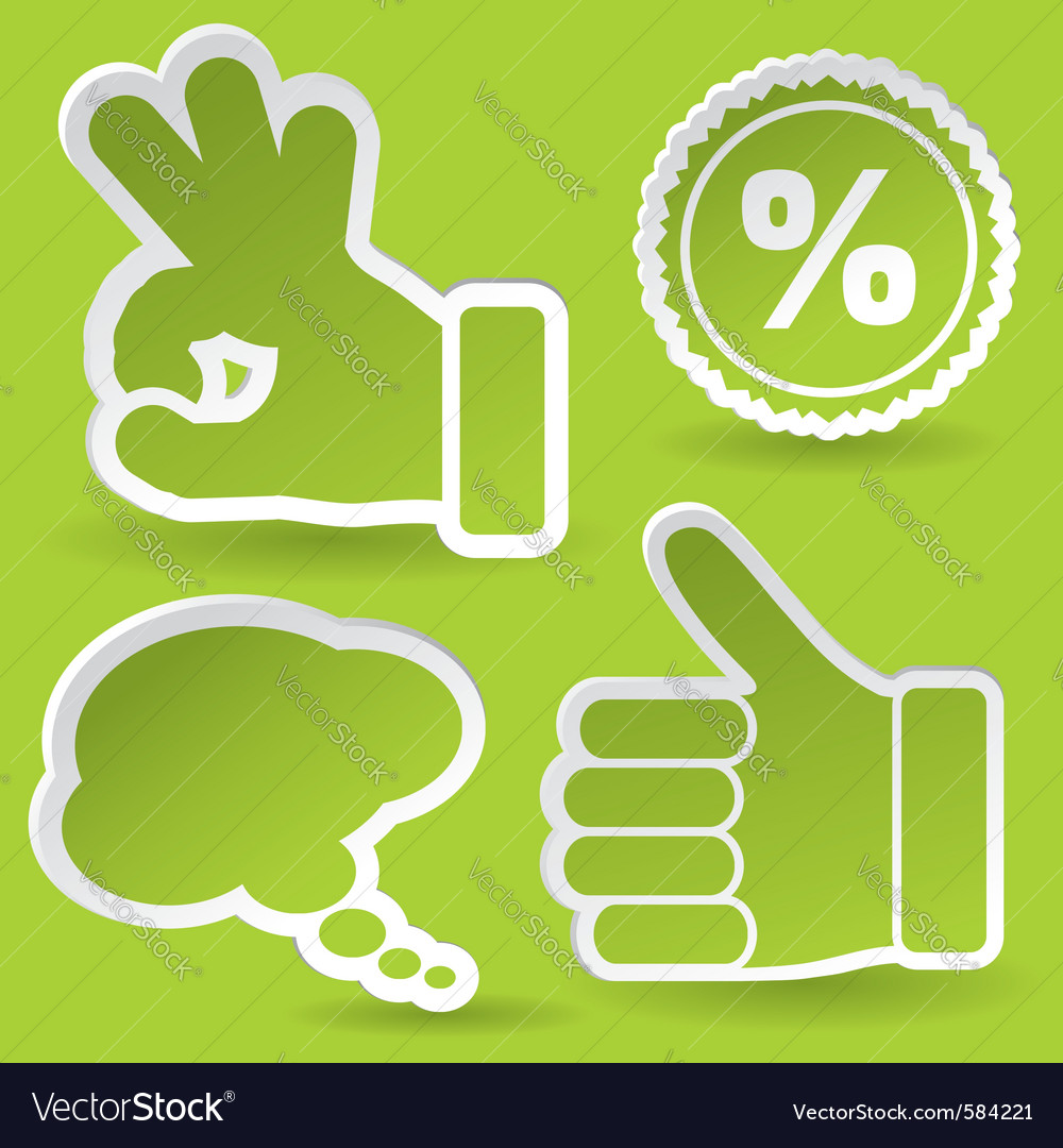 Collect sticker vector