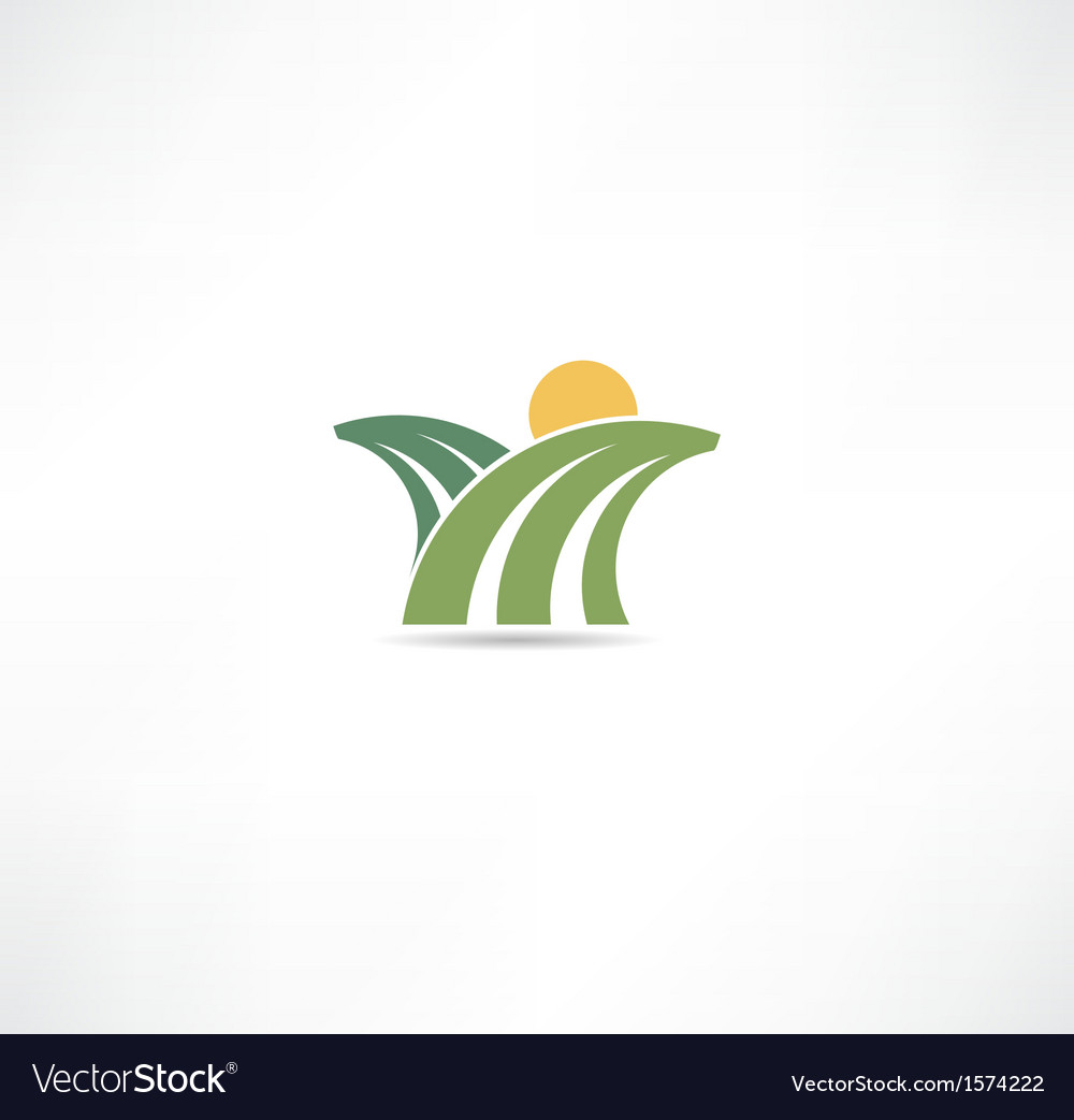Field icon vector