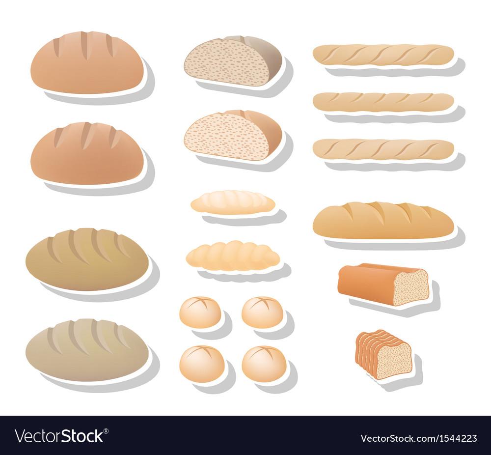 Bread collection vector