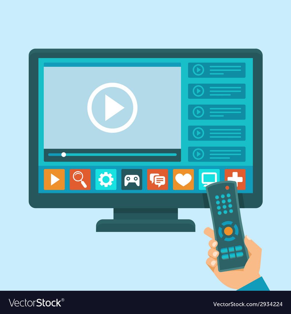 Smart tv concept vector