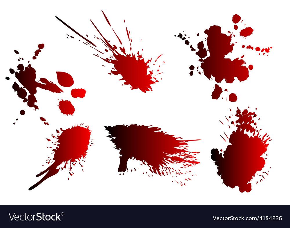 Blood spatter vector
