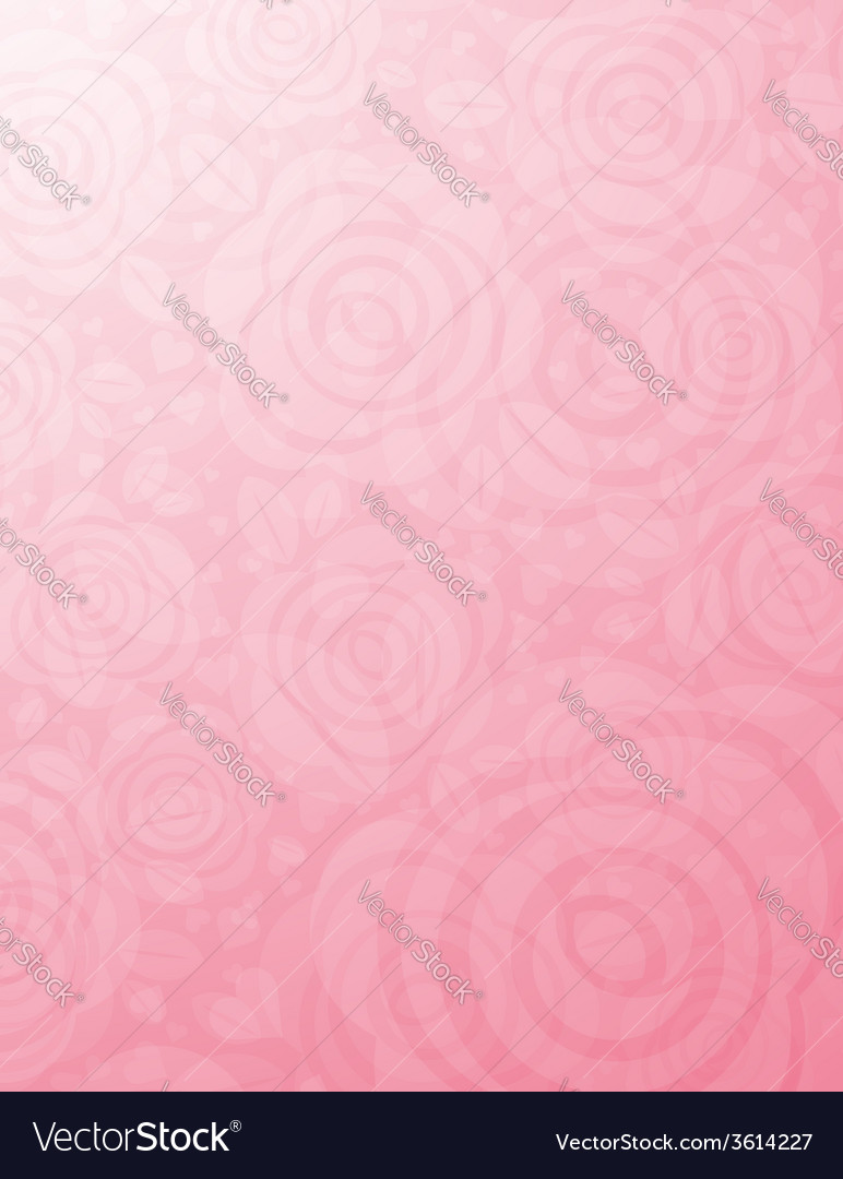 Background with many pink roses vector