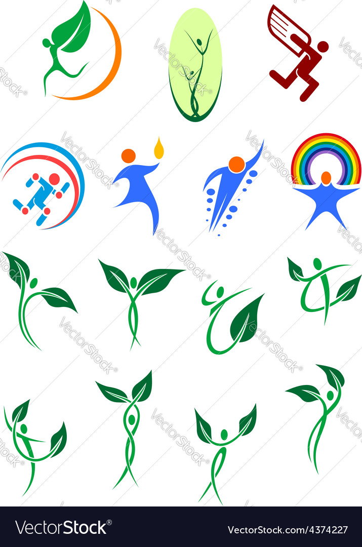 Eco friendly and environment protection symbols vector