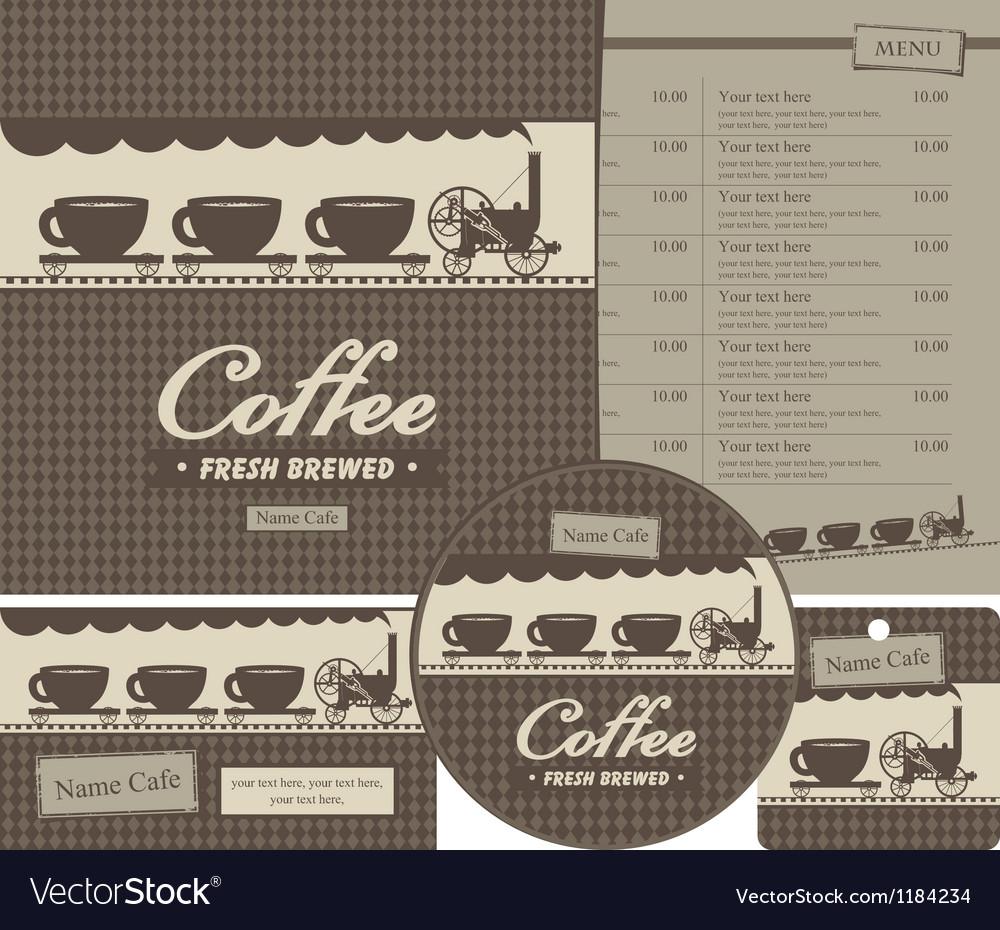Design cafe vector