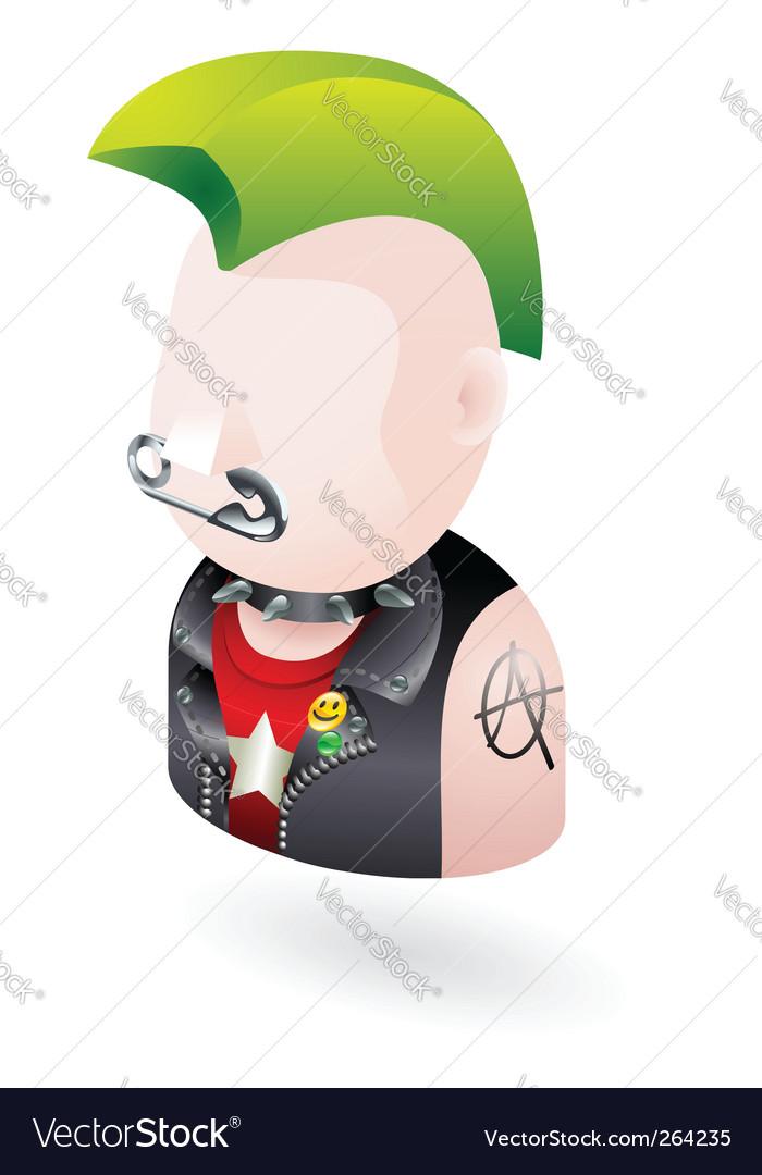 Punk icon vector