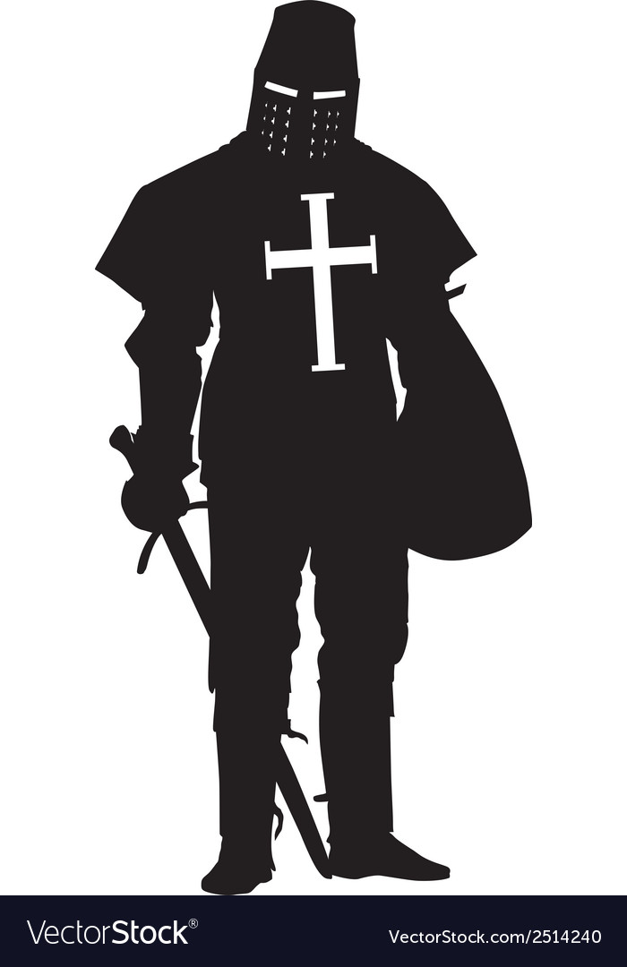 Crusader warriors theme vector