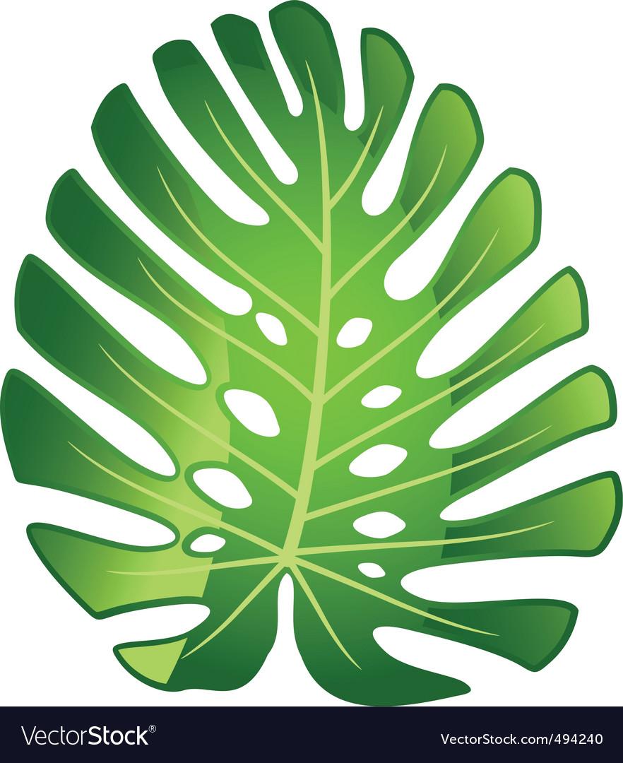Leaf plant monster vector