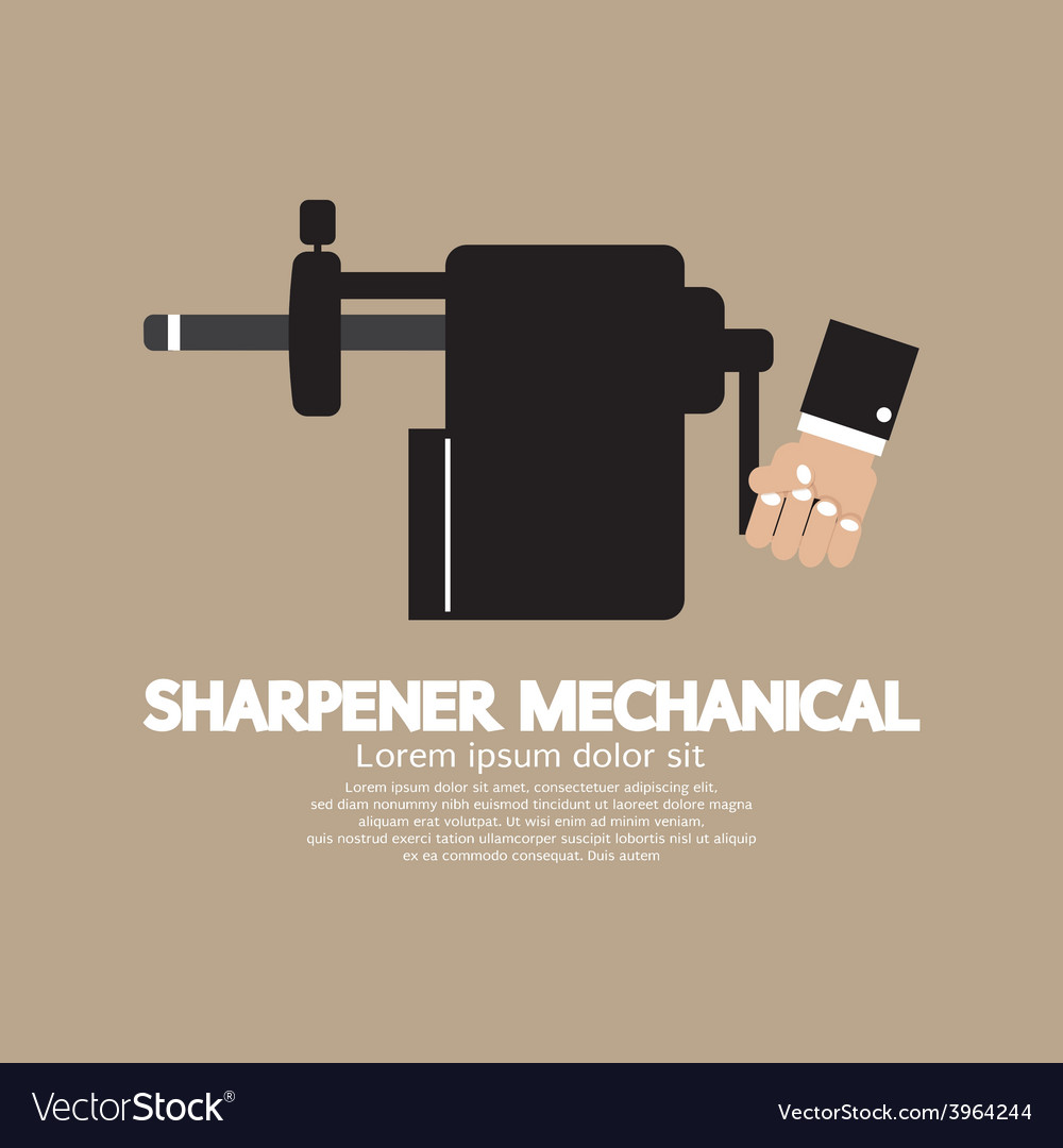 Sharpener mechanical with pencil inside vector