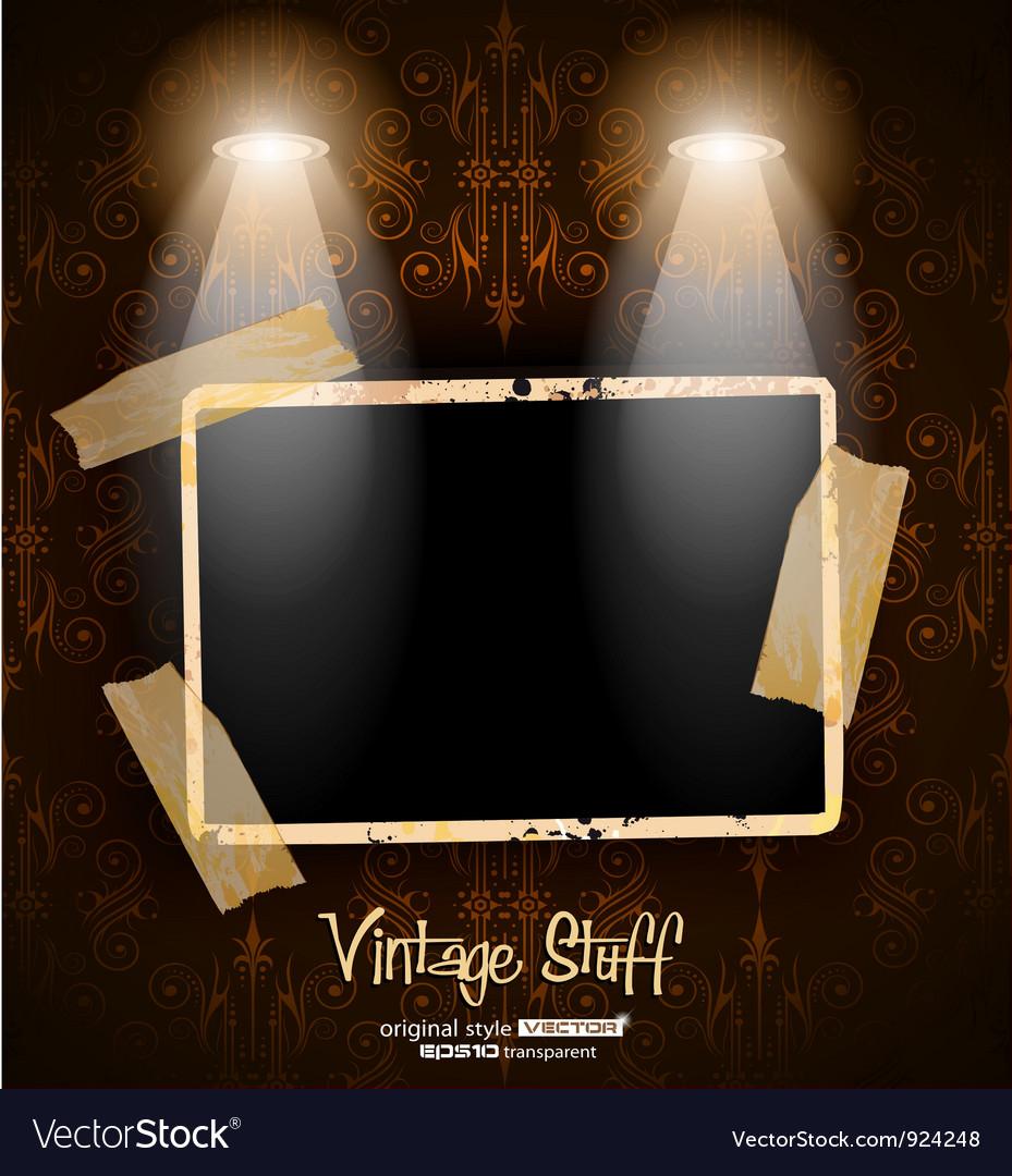 Antique distressed photoframes vector