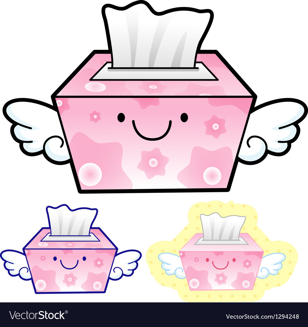Different styles of facial tissues sets vector
