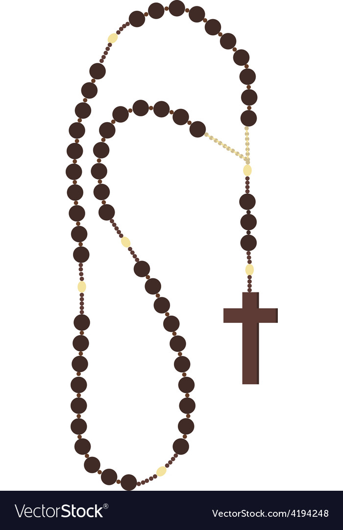 Rosary beads vector
