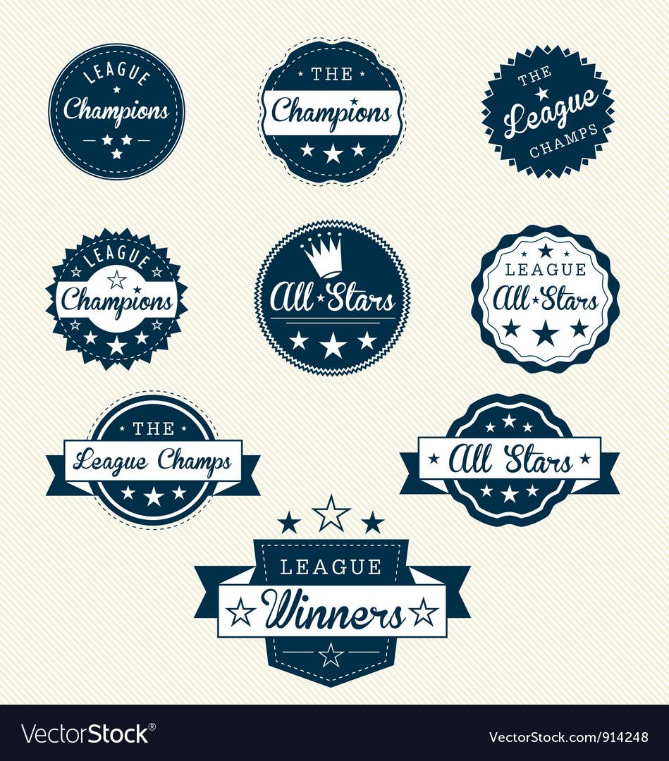 Vintage sports labels vector