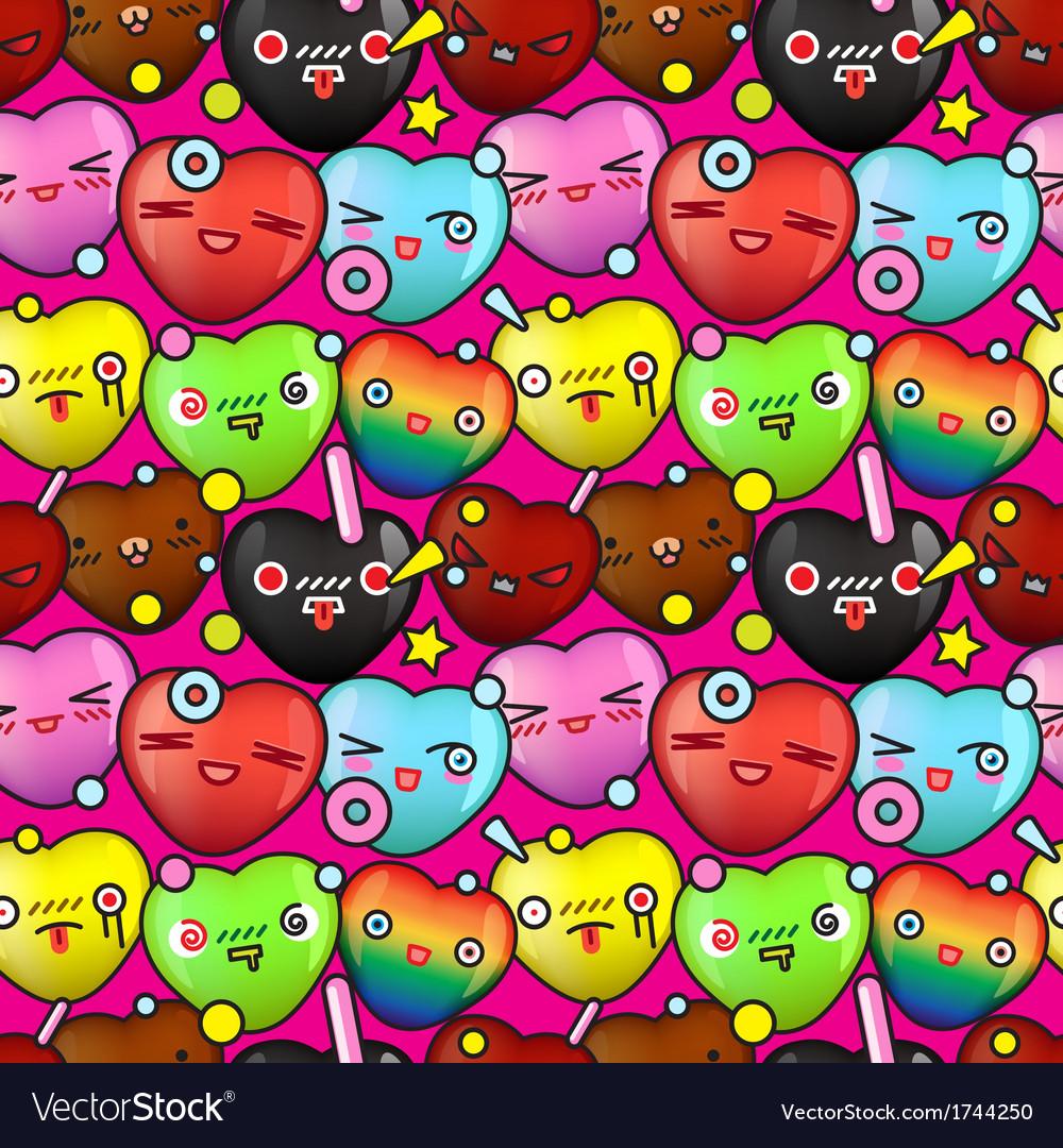 Colorful cute cartoon seamless pattern vector