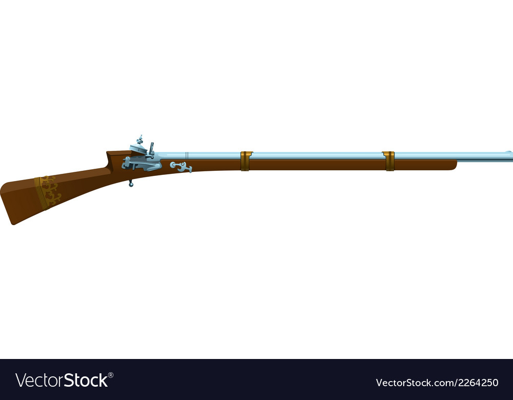 Old hunting shotgun vector