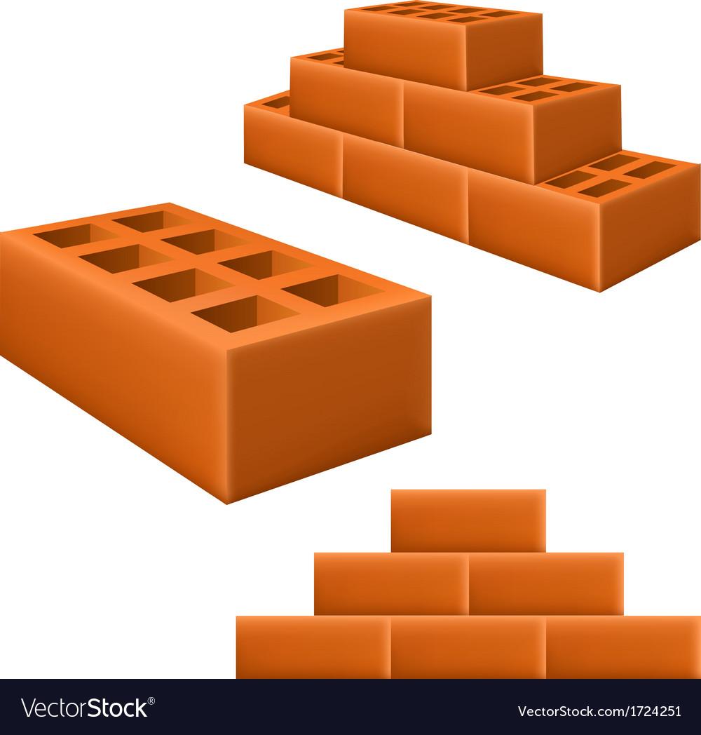 Brick set vector